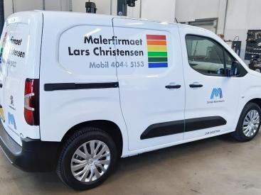 Bilreklame Malerfirma-lars-christensen
